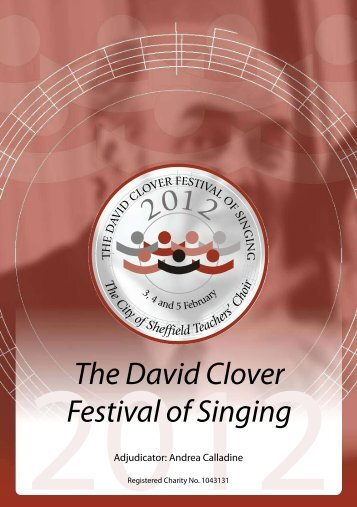 2012 Festival Programme - David Clover Festival of Singing