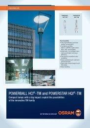 POWERBALL HCI®-TM and POWERSTAR HQI®-TM - Osram