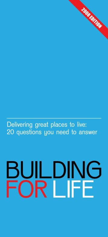delivering great places to live: 20 questions you ... - Design Council