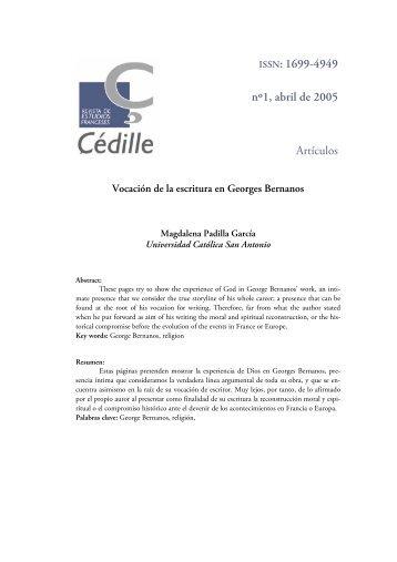 ISSN: 1699-4949 nº1, abril de 2005 Artículos - Çédille. Revista de ...
