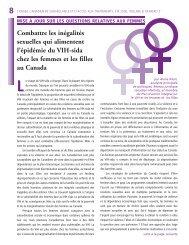 Combattre les inégalités sexuelles qui alimentent l'épidémie du VIH ...