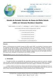 Estudo da Emissão Veicular de Gases de Efeito Estufa (GEE) em ...