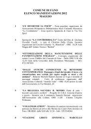 comune di fano elenco manifestazioni 2012 maggio - Eventi e sagre