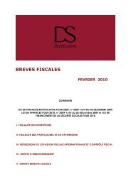 breves fiscales fevrier 2010 - DS Avocats