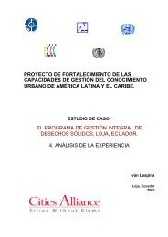 Proyecto de Fortalecimiento de las Capacidades de Gestión del ...