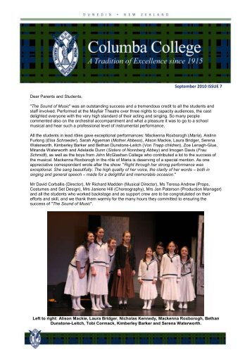 September 2010 ISSUE 7 - Columba College