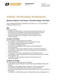 Textdesign - Mälardalens högskola