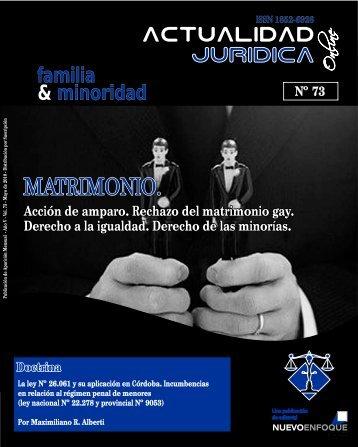 MATRIMONIO. - Actualidad Jurídica
