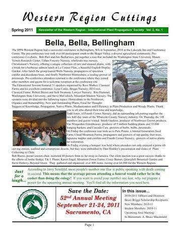 Volume 2, No. 1, Spring 2011 - International Plant Propagators ...