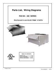 Parts List, Wiring Diagrams