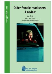 Older female road users: A review - VTI