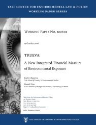 A New Integrated Financial Measure of Environmental Exposure