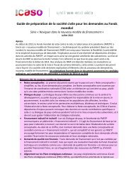 Guide de préparation de la société civile pour les demandes ... - icaso