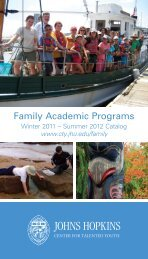 Family Academic Programs - Johns Hopkins Center for Talented ...