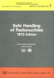 Safe Handling of Radionuclides - gnssn - International Atomic ...