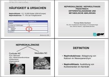 • Nephrokalzinose: Ablagerung von Kalzium im ... - Ferring
