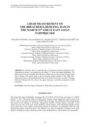 LIDAR Measurement of the Breached Earth-fill Dam in the March ...