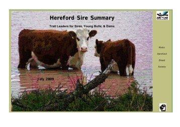 Hereford Sire Summary