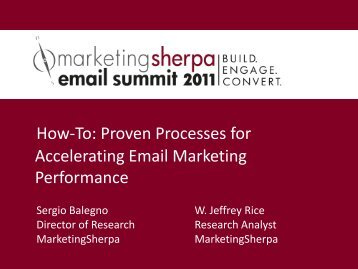 Proven Processes for Accelerating Email ... - MarketingSherpa