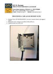 Procedura cablaggio Box Ottico per guida DIN - Gfo Europe S.p.A.