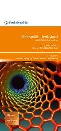 Endelig program Sluttseminar - Norges forskningsråd