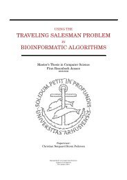 TRAVELING SALESMAN PROBLEM BIOINFORMATIC ALGORITHMS
