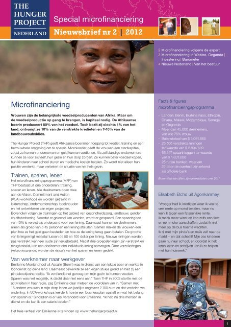 Nieuwsbrief nr 2 2012 - The Hunger Project