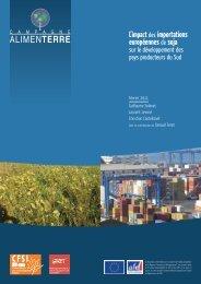 Impact des importations européennes de soja sur le - Cfsi
