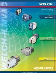 Aftermarket Catalog - Welch Vacuum