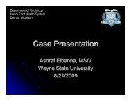 Case Presentation - Henry Ford Health System