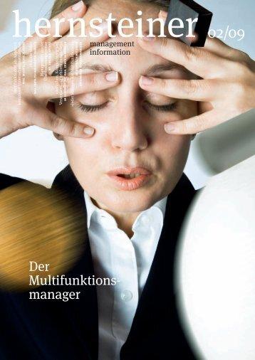 Der Multifunktionsmanager 2009, Ausgabe 2 - Hernstein Institut für ...