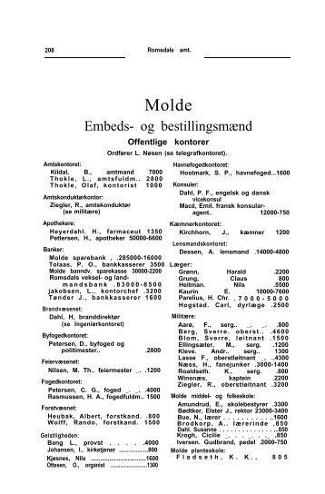 Adressebok 1907 - Romsdal Sogelag