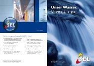 Unser Wasser. Unsere Energie. - SEL AG