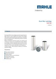 Dust filter cartridge 328 NZ - MAHLE Industry - Filtration