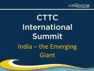 CTTC International Summit - California Tourism