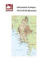 Informations Pratiques MYANMAR (Birmanie) - visiteurs