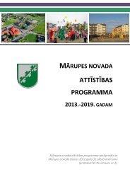 Mārupes novada attīstības programma 2013.-2019.gadam