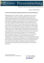 Verantwortlich: Renate Matthei - Merseburger Verlag