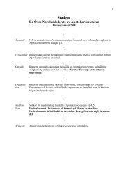 Förslag till stadgar för sektioner - Apotekarsocieteten