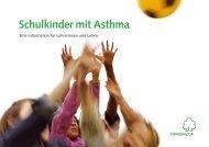 Schulkinder mit Asthma - Lungenliga