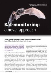Newson et al Bat monitoring a novel approach. British Wildlife