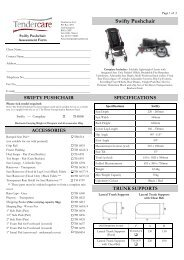 Swifty Pushchair - Tendercare Ltd