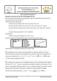 Resolver os exercícios 24, 26, 29 e 32 das páginas 20 a 24.