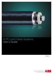 XLPE Land Cable Systems User´s Guide - Abb
