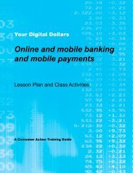Your Digital Dollars - Lesson Plan and Class ... - Consumer Action