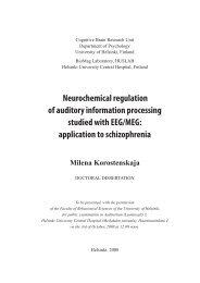 Neurochemical regulation of auditory information ... - Helda - Helsinki.fi