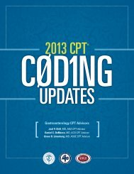 2013 CPT Coding Changes