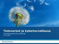 Tietoverkot ja kyberturvallisuus - Fingrid