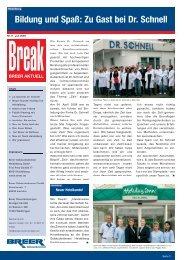 Bildung und Spaß: Zu Gast bei Dr. Schnell - Breer Gebäudedienste