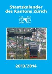Staatskalender des Kantons Zürich 2012/2013 - Sicherheitsdirektion ...